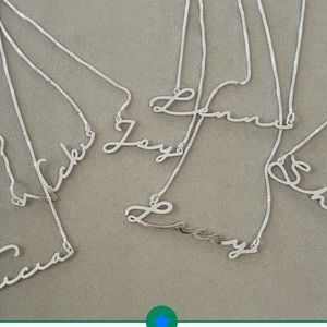 """Jewelry - Sterling silver name necklace """"Kristen"""""""